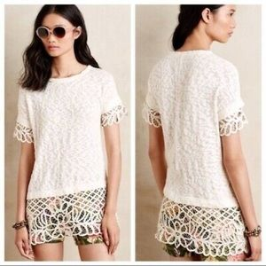 Anthropologie Saturday Sunday Spalliera Tunic Lace